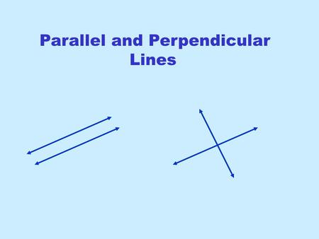 Parallel and Perpendicular Lines. Gradient-Intercept Form Useful for graphing since m is the gradient and b is the y- intercept Point-Gradient Form Use.