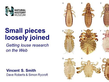 Vincent S. Smith Dave Roberts & Simon Rycroft Small pieces loosely joined Getting louse research on the Web.