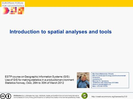 Introduction to spatial analyses and tools