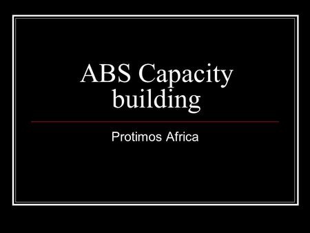 ABS Capacity building Protimos Africa. I remembered one morning when I discovered a cocoon in the bark of a tree, just as the butterfly was making a.
