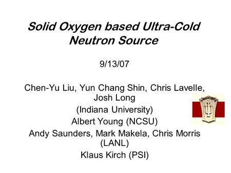 Solid Oxygen based Ultra-Cold Neutron Source