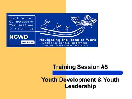 Training Session #5 Youth Development & Youth Leadership.