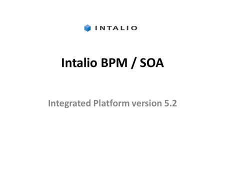 Integrated Platform version 5.2