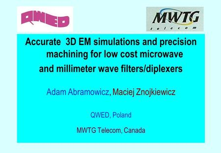 and millimeter wave filters/diplexers