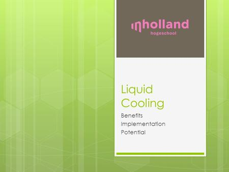 Liquid Cooling Benefits Implementation Potential.