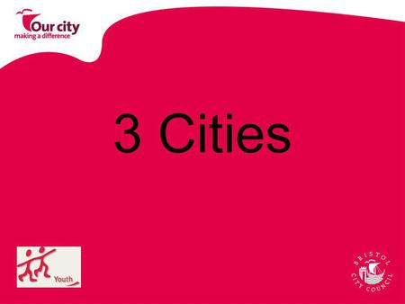 3 Cities. Hanover, Germany Poznan, Poland Bristol, England.