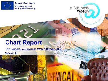 Chart Report The Sectoral e-Business Watch Survey 2007 Version 1.0 European Commission Directorate General Enterprise and Industry.