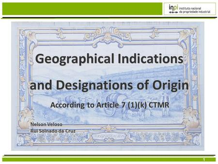 Geographical Indications and Designations of Origin