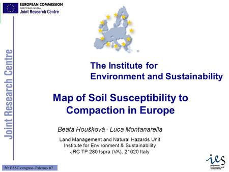 Map of Soil Susceptibility to Compaction in Europe