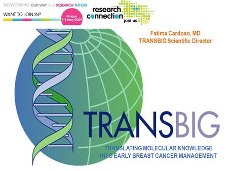 BIG-TRANSBIG HQ– Used with permission TRANSLATING MOLECULAR KNOWLEDGE INTO EARLY BREAST CANCER MANAGEMENT Fatima Cardoso, MD TRANSBIG Scientific Director.