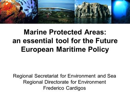 Marine Protected Areas: an essential tool for the Future European Maritime Policy Regional Secretariat for Environment and Sea Regional Directorate for.
