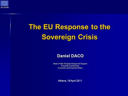 The EU Response to the Sovereign Crisis