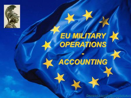 EU MILITARY OPERATIONS - ACCOUNTING