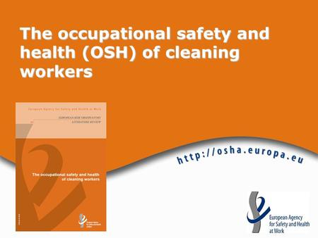 The occupational safety and health (OSH) of cleaning workers.