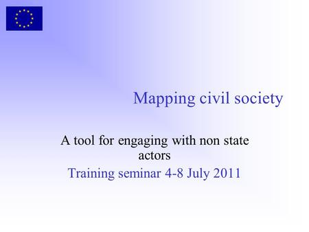 Mapping civil society A tool for engaging with non state actors