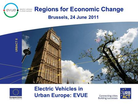 Regions for Economic Change Brussels, 24 June 2011 Electric Vehicles in Urban Europe: EVUE.