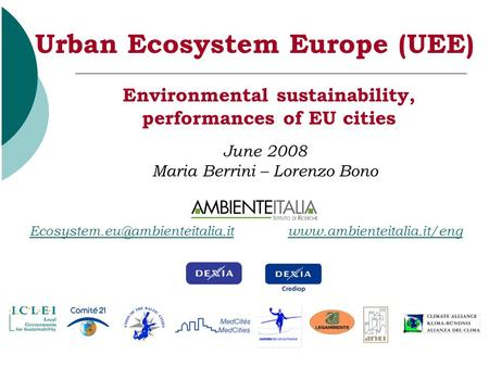 1 Environmental sustainability, performances of EU cities