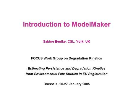 Introduction to ModelMaker