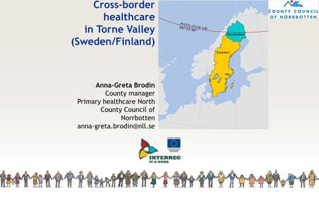 Cross-border healthcare in Torne Valley (Sweden/Finland)