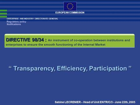 """ Transparency, Efficiency, Participation """