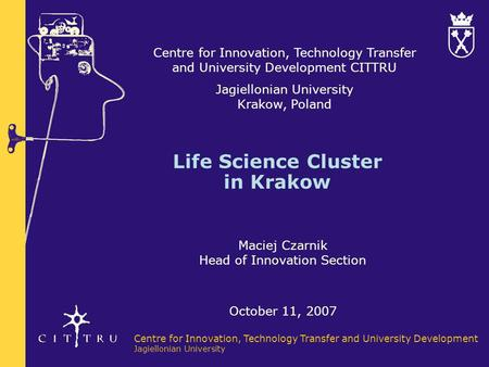 Life Science Cluster in Krakow