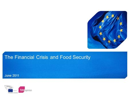 The Financial Crisis and Food Security June 2011.