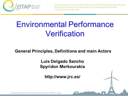 Environmental Performance Verification
