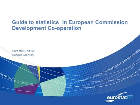 Guide to statistics in European Commission Development Co-operation