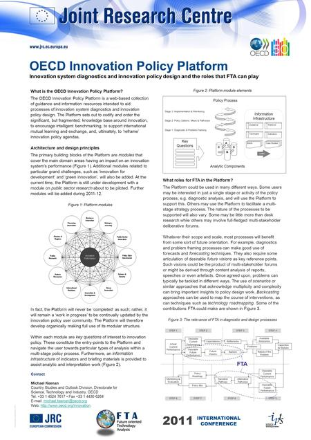© European Communities, 2011 What is the OECD Innovation Policy Platform? The OECD Innovation Policy Platform is a web-based collection of guidance and.