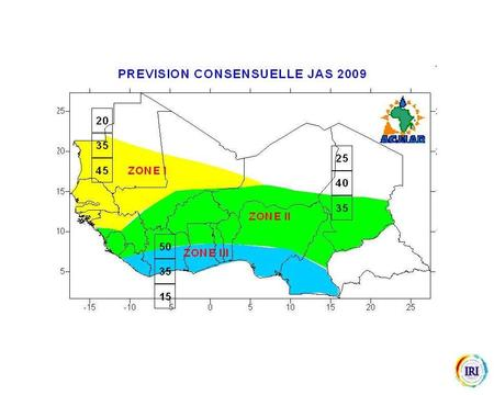 Gaps For the next 3 months, collect all the rainfall over the whole of Gambia and half of Senegal. The amount of rainfall we think you will get in 2009.