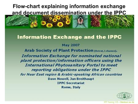 Flow-chart explaining information exchange and document dissemination under the IPPC IPP Training WS – Handout no. 4a.