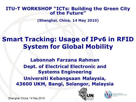 Smart Tracking: Usage of IPv6 in RFID System for Global Mobility
