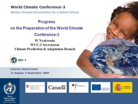 Progress on the Preparation of the World Climate Conference-3