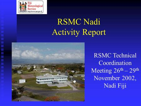 RSMC Nadi Activity Report