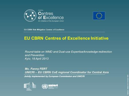 EU CBRN Centres of Excellence Initiative