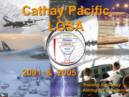 CX LOSA © Cathay Pacific Airways 2005 Cathay Pacific LOSA Training for Safety Aiming for Excellence 2001 & 2005.