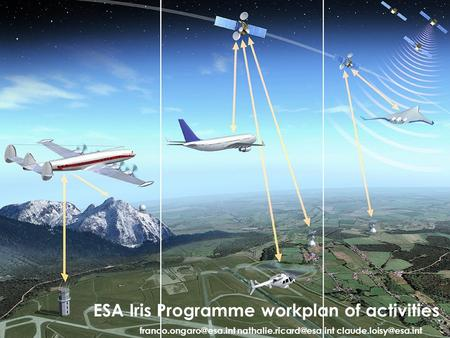 1 ESA Iris Programme workplan of activities