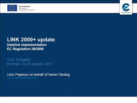 LINK update Datalink Implementation EC Regulation 29/2009