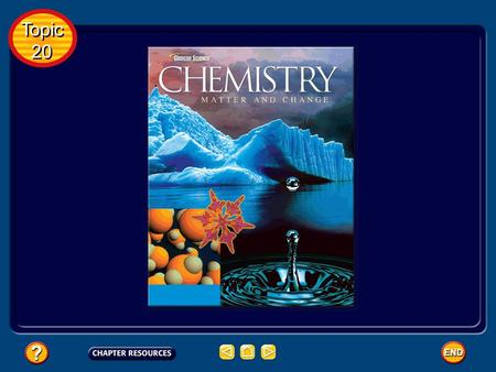 Topic 20 Topic 20 Topic 20: Energy and Chemical Change Basic Concepts Additional Concepts Table of Contents Topic 20 Topic 20.