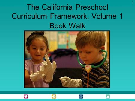 1 The California Preschool Curriculum Framework, Volume 1 Book Walk.