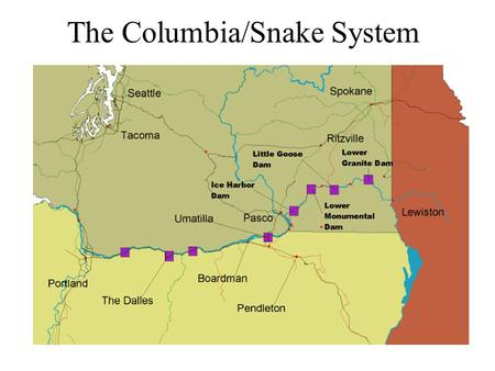 The Columbia/Snake System. Lower Snake Traffic Columbia River Traffic.
