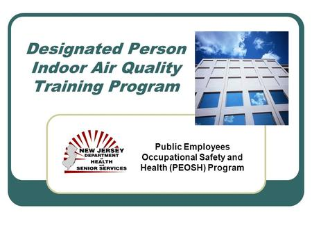 Designated Person Indoor Air Quality Training Program