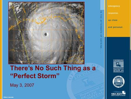 ©Sides & Associates Theres No Such Thing as a Perfect Storm May 3, 2007.