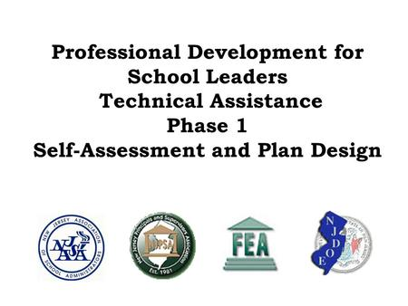 Professional Development for School Leaders Technical Assistance Phase 1 Self-Assessment and Plan Design.