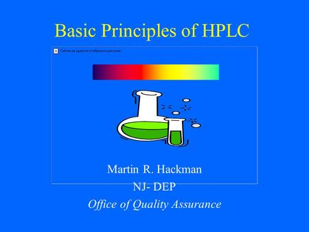Basic Principles of HPLC