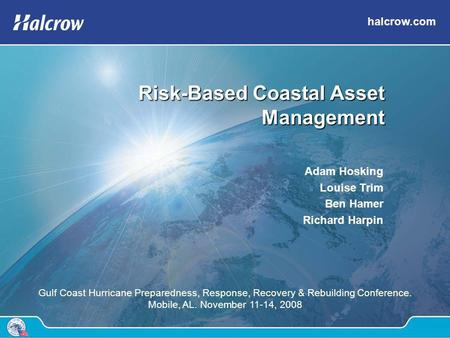 Risk-Based Coastal Asset Management