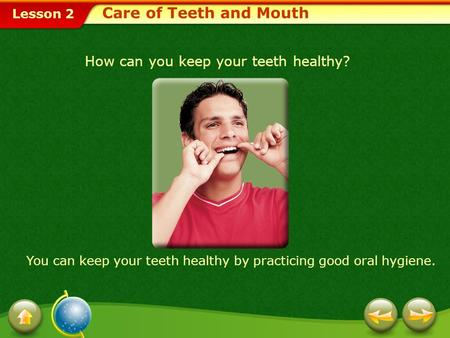 Care of Teeth and Mouth How can you keep your teeth healthy?
