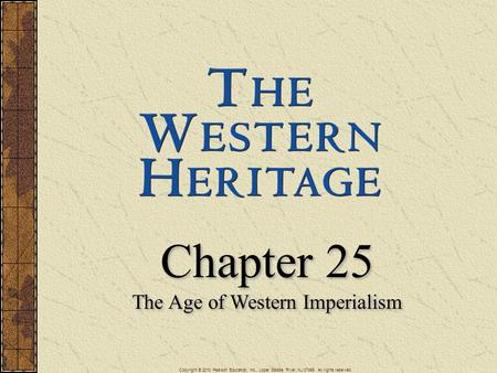 The Age of Western Imperialism