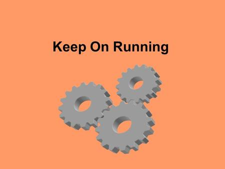 Keep On Running. Energy For all of Us Cellular activity –Large molecules cannot be used by the cells for energy (muscles, etc) –Molecules must be broken.