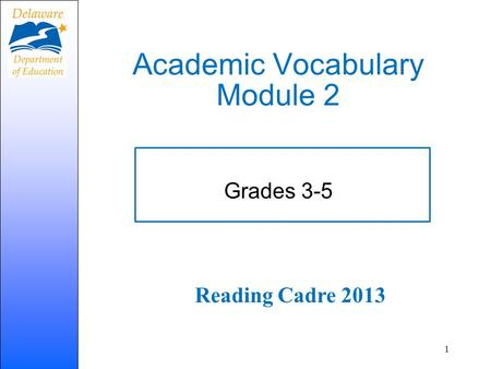 Academic Vocabulary Module 2